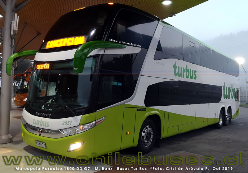 Marcopolo Paradiso 1800 DD G7 - M. Benz | Buses Tur Bus