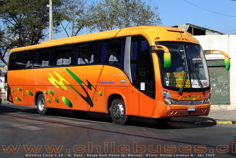 Maxibus Lince 3.45 - M. Benz | Buses Buin Paine (R. Metrop)
