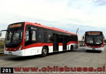 Unidades Marcopolo Torino Low Entry - Volvo  |  Linea 201 Buses Subus Chile
